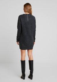 Vero Moda - VMBLAKELY IVA O NECK ZIPPER - Jumper dress - dark grey melange - 3