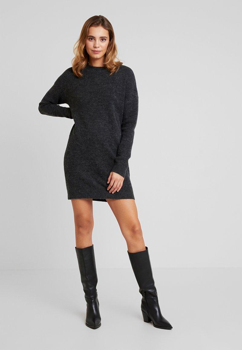 Vero Moda - VMBLAKELY IVA O NECK ZIPPER - Jumper dress - dark grey melange