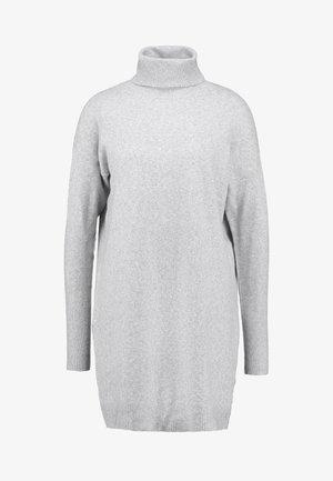 VMBRILLIANT ROLLNECK DRESS - Strikket kjole - light grey melange