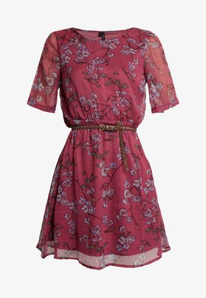 VMMALLIE BELT SHORT DRESS - Day dress - hawthorn rose/mallie