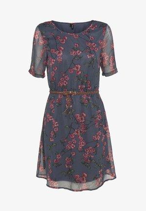 VMMALLIE BELT SHORT DRESS - Kjole - ombre blue