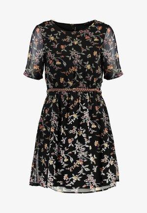 VMTINI BELT SHORT DRESS - Korte jurk - black