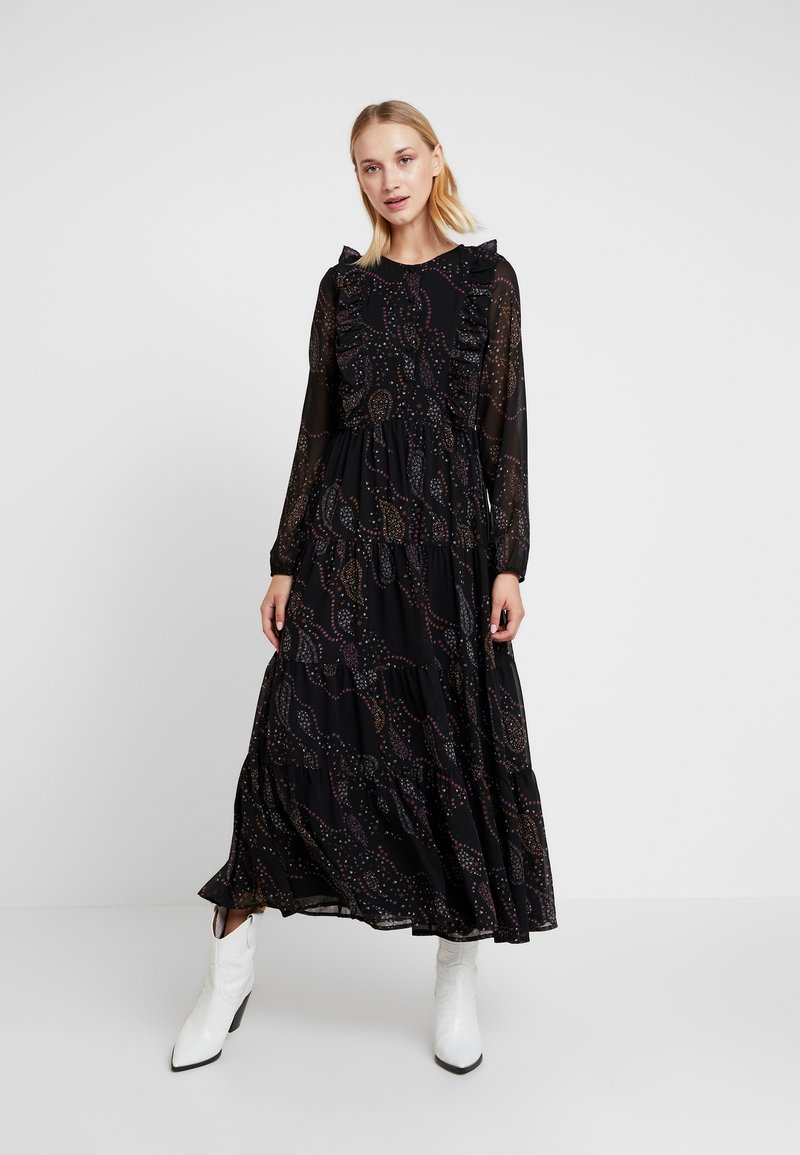 Vero Moda - VMELLIE ANCLE DRESS - Maxikjoler - black/ellie
