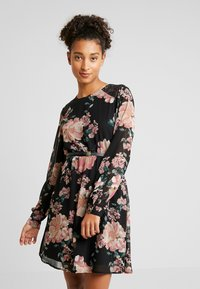 Vero Moda - VMSUNILLE SHORT DRESS - Kjole - black - 0