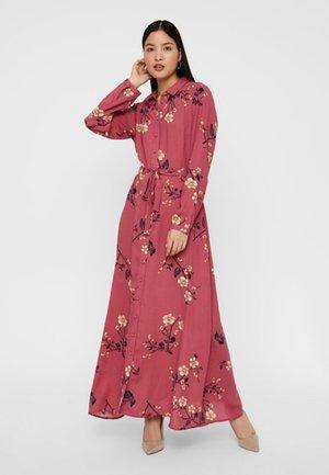 Długa sukienka - rose wine