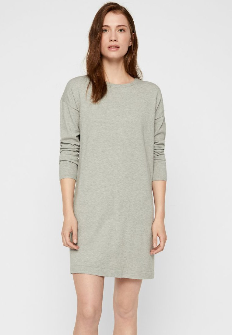 Vero Moda - LONG SLEEVE - Freizeitkleid - light grey melange