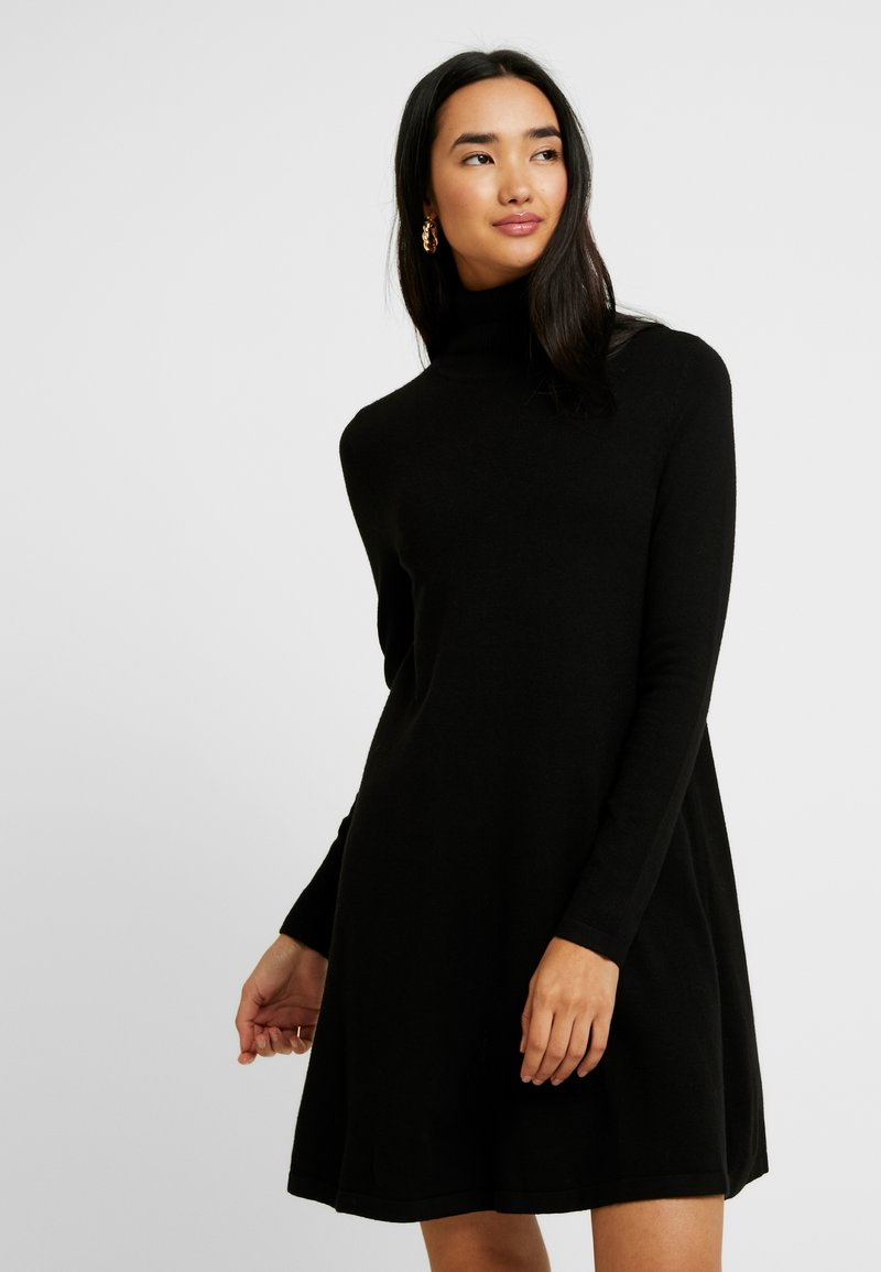 Vero Moda - VMHAPPYROLLNECK DRESS  - Robe pull - black