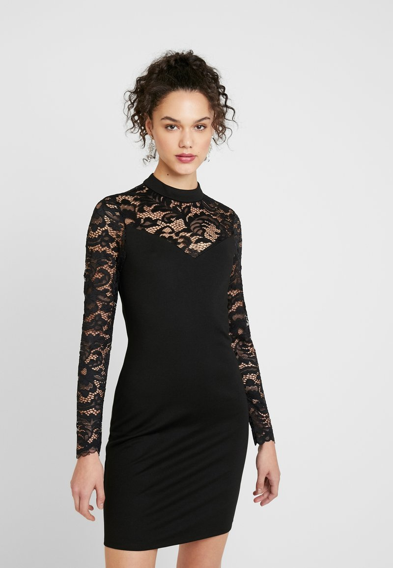 Vero Moda - VMDORA HIGH NECK DRESS - Etuikjole - black