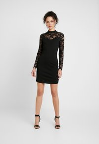 Vero Moda - VMDORA HIGH NECK DRESS - Etuikjole - black - 1