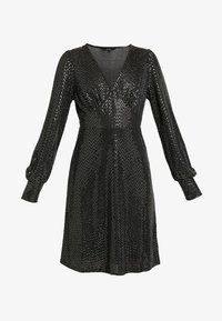 Vero Moda - VMDARLING SHORT DRESS - Jerseykjole - black/silver - 3