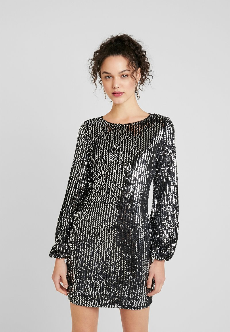 Vero Moda - VMLABARON SEQUEINS DRESS - Juhlamekko - silver