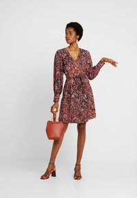 Vero Moda - VMLAIA WRAP SHORT DRESS - Day dress - marsala/laila - 2