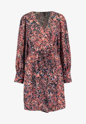 VMLAIA WRAP SHORT DRESS - Day dress - marsala/laila