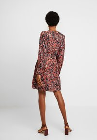Vero Moda - VMLAIA WRAP SHORT DRESS - Day dress - marsala/laila - 3