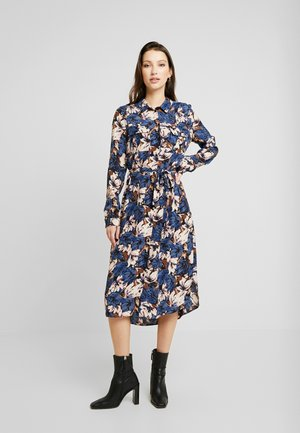 VMLIANA CALF DRESS - Košilové šaty - black/blue liana