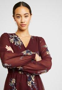 Vero Moda - VMALLIE SHORT SMOCK DRESS - Korte jurk - winetasting - 6