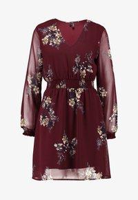 Vero Moda - VMALLIE SHORT SMOCK DRESS - Korte jurk - winetasting - 5