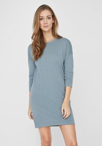Vero Moda - VMMINNIECARE O NECK DRESS - Jumper dress - slate - 0