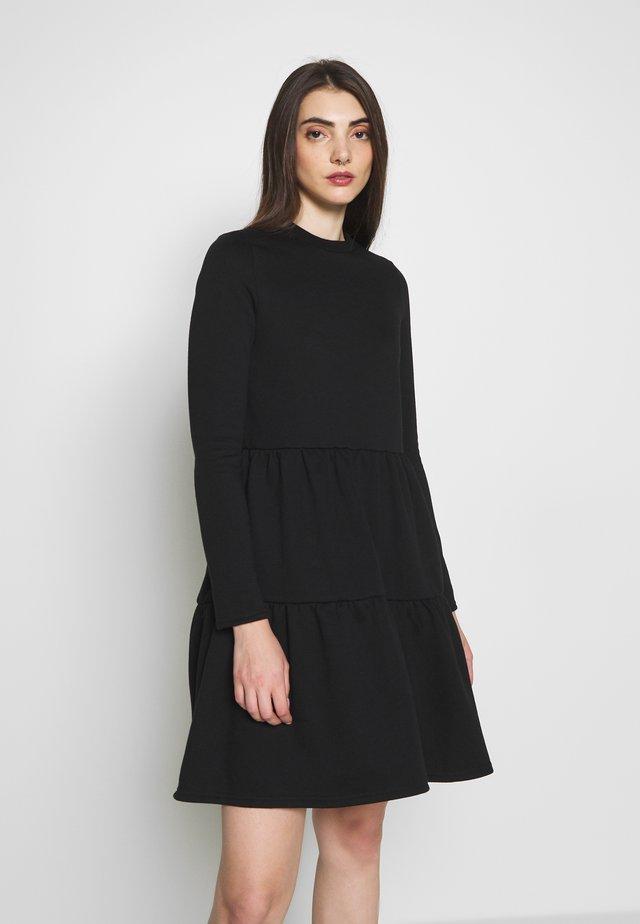 VMNATALIA FRILL DRESS - Day dress - black