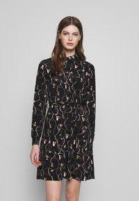 Vero Moda - VMTOKA DRESS - Trikoomekko - black - 0