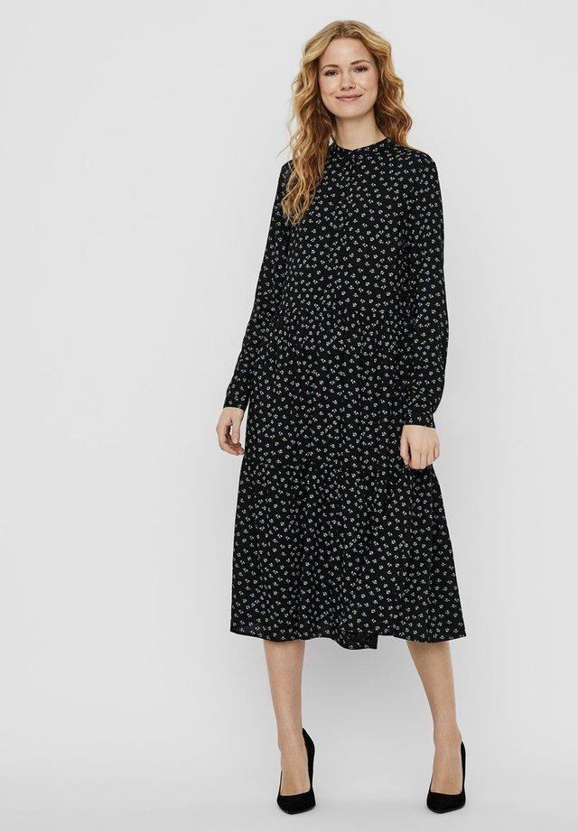 MIDIKLEID STEHKRAGEN - Shirt dress - black