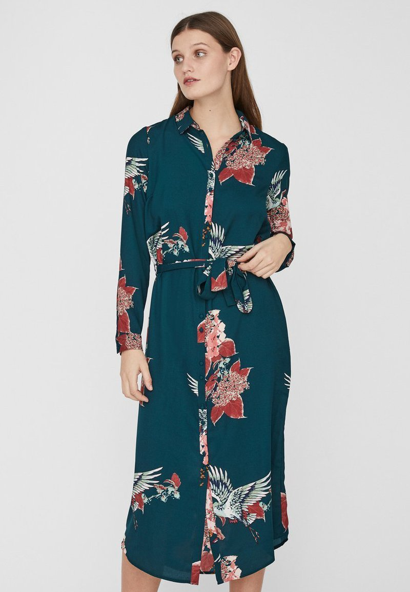 Vero Moda - Blusenkleid - ponderosa pine