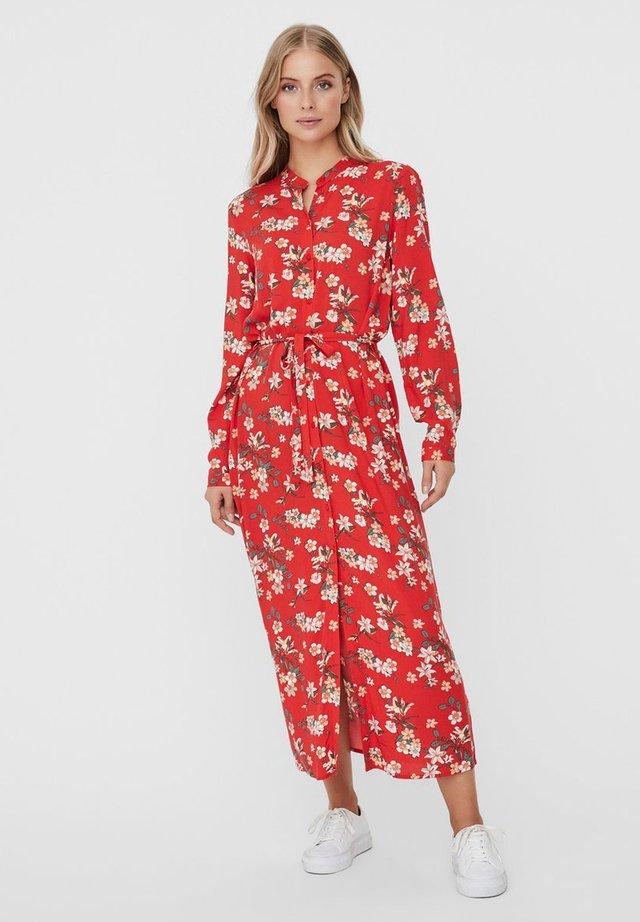 VMSIMPLY EASY LONG DRESS - Shirt dress - goji berry