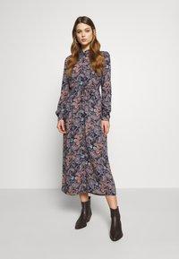 Vero Moda - VMSIMPLY EASY LONG DRESS - Shirt dress - night sky - 0