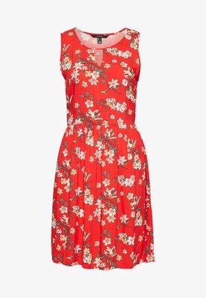 VMSIMPLY EASY SHORT DRESS - Vapaa-ajan mekko - goji berry