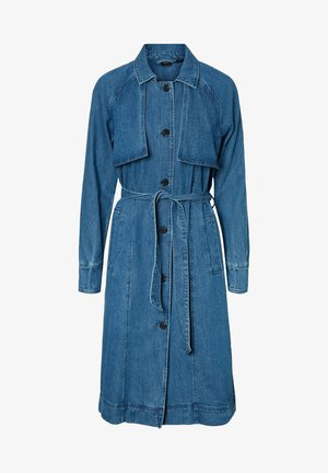 Trench - medium blue denim