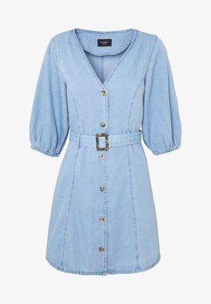 VMCLARISA SHORT DRESS  - Vestido vaquero - light blue denim