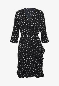Vero Moda - VMHENNA WRAP DRESS - Vapaa-ajan mekko - black/white - 5