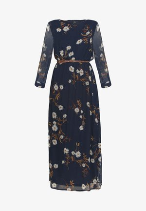 VMCARINA BELT DRESS - Maxi šaty - navy