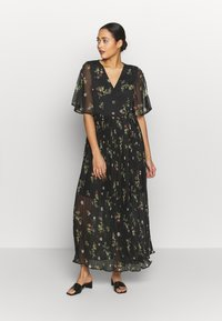Vero Moda - VMMAYA WRAP DRESS - Maxikjole - black - 0