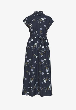 VMFALLIE LONG TIE DRESS - Day dress - navy blazer
