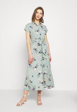 VMFALLIE LONG TIE DRESS - Denní šaty - green milieu