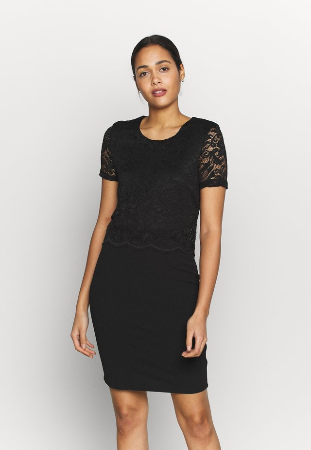 VMMARIE SHORT DRESS  - Pouzdrové šaty - black