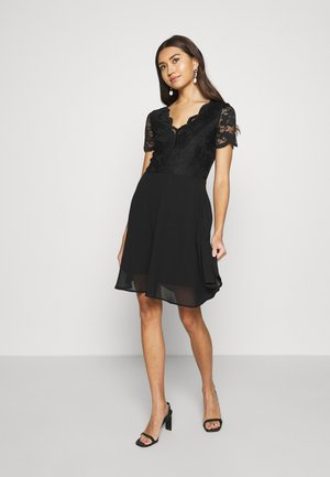 VMMINA SHORT DRESS - Korte jurk - black