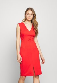 Vero Moda - VMDOLLY SHORT DRESS - Vestido de tubo - aurora red - 0