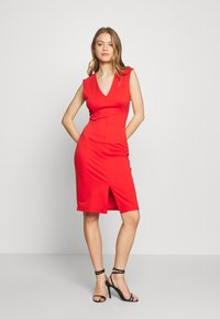Vero Moda - VMDOLLY SHORT DRESS - Vestido de tubo - aurora red - 1