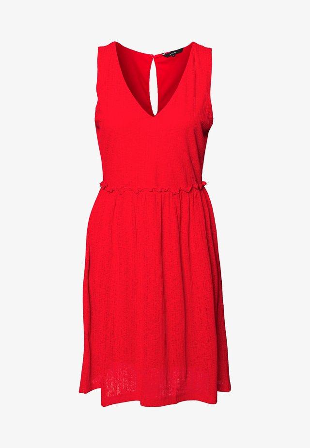 VMKATIE SHORT DRESS - Vardagsklänning - aurora red