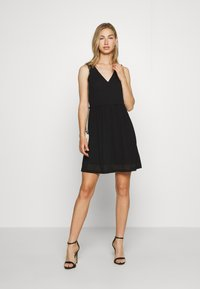 Vero Moda - VMKATIE SHORT DRESS - Korte jurk - black - 1