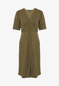 Vero Moda - VMKASSANDRA KNEE DRESS - Skjortekjole - ivy green - 0