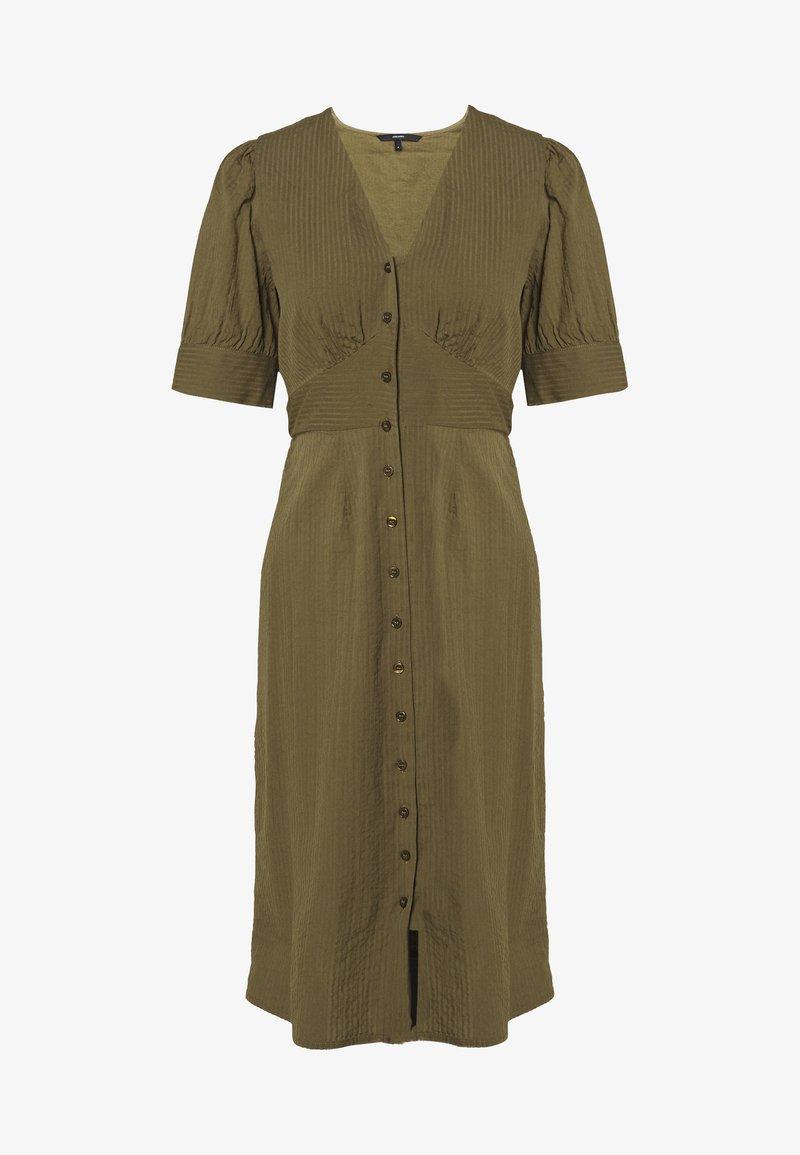 Vero Moda - VMKASSANDRA KNEE DRESS - Skjortekjole - ivy green