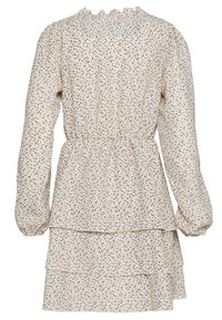 Vero Moda - VMKANYA V-NECK SHORT DRESS - Kjole - birch/kanya brownie - 1