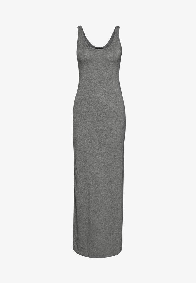 VMNANNA SL ANCLE DRESS COLOR - Maxiklänning - medium grey melange