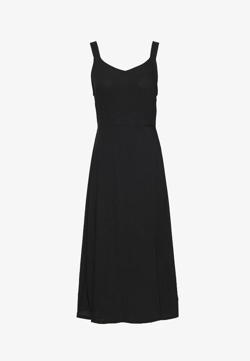 Vero Moda - VMSIMPLY EASY STRAP CALF DRESS - Korte jurk - black