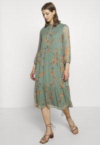 Vero Moda - VMWONDA CALF DRESS - Shirt dress - laurel wreath - 0