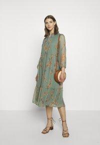 Vero Moda - VMWONDA CALF DRESS - Shirt dress - laurel wreath - 1