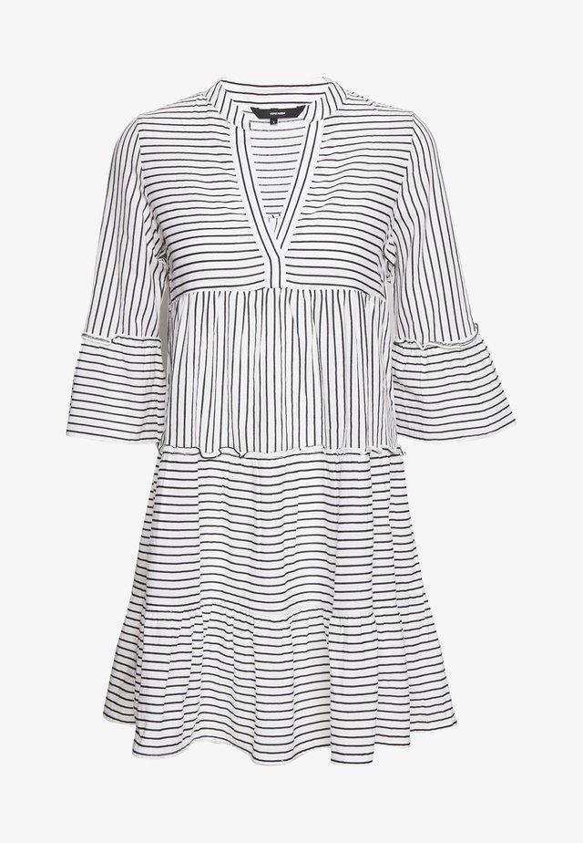 VMHELI 3/4 SHORT DRESS - Day dress - snow white/night sky